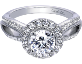 Gabriel Vintage Engagement Ring Halo