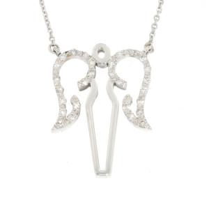 White Gold Diamond Angel Necklace