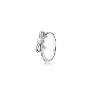 190971P Delicate Sentiments Ring, With White Pearl And Clear CZ