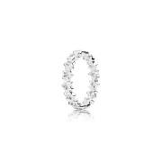 190974CZ Star Ring, Clear CZ