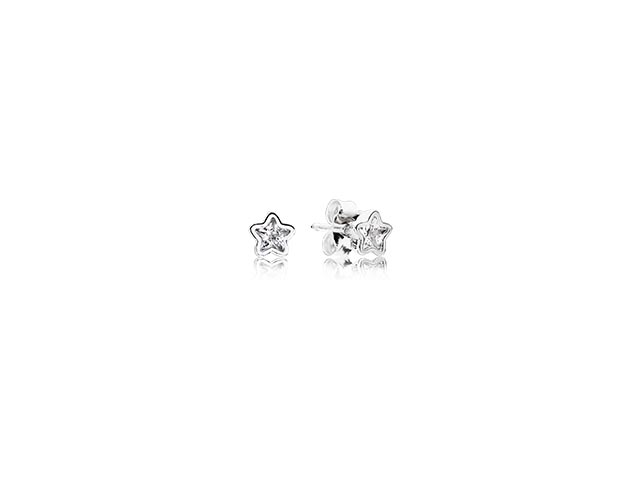290597CZ Starshine Clear CZ Earrings