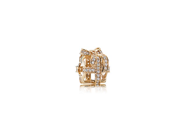 750839CZ All Wrapped Up, With Clear CZ 14k-Yellow Gold