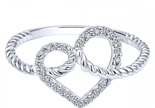Gabriel&Co. White Gold / Diamond Eternal Love Ladies Ring