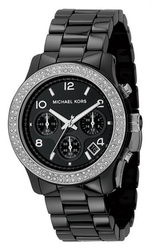 Michael Ceramic and Crystal Women's Watch
