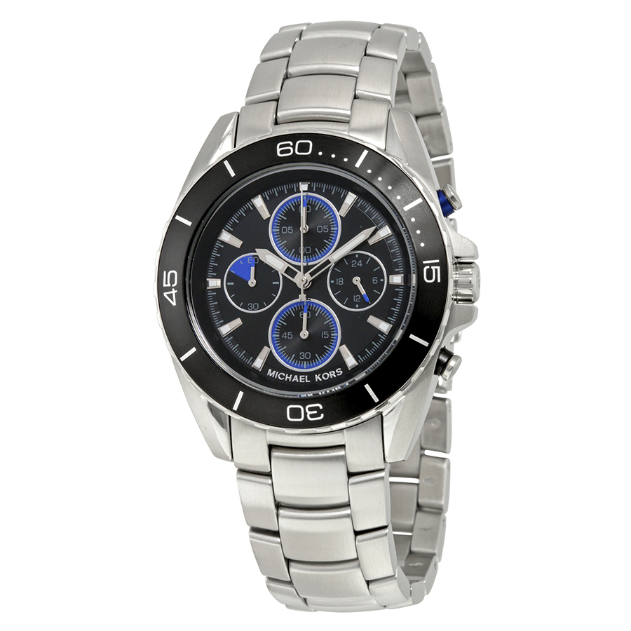 MICHAEL KORS Jetmaster Black Dial Chronograph Men's Watch MK8462