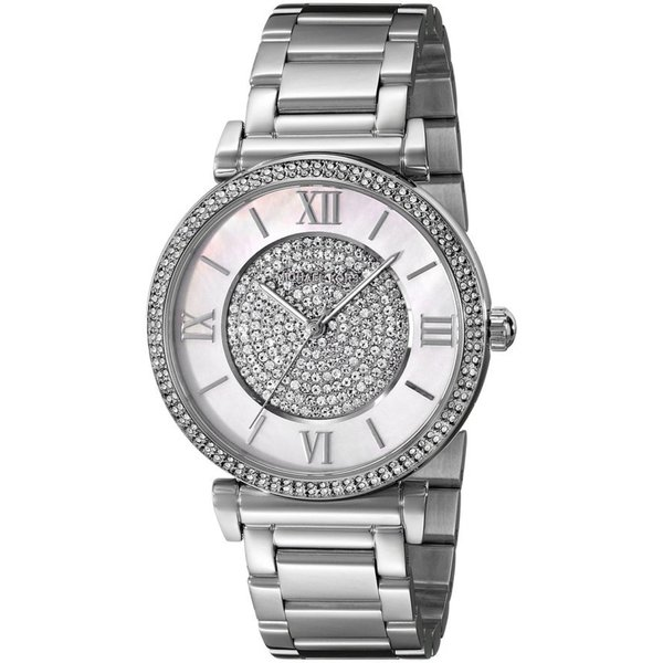 ichael KJoors Catlin Crystal Stainless Steel Watch MK3355