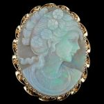 Opal Carved Brooch