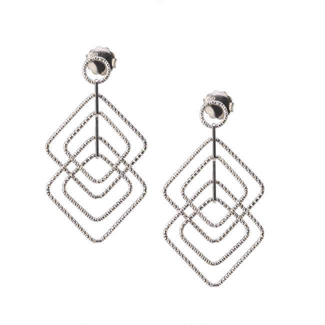 Frederic Duclos Style e656 silver earrings