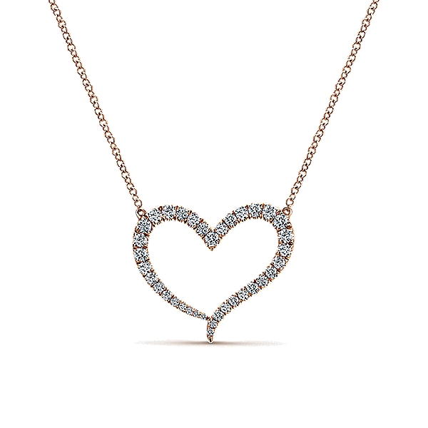 Gabrielco 14k gold eternal love heart necklace j douglas gabriel 14k pink gold diamond heart necklace mozeypictures Choice Image