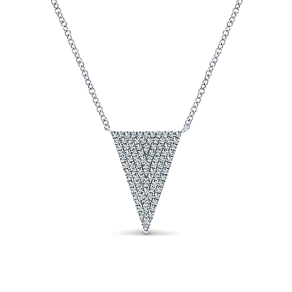 Gabriel & Co – 14k Triangle Kaslique Fashion Necklace