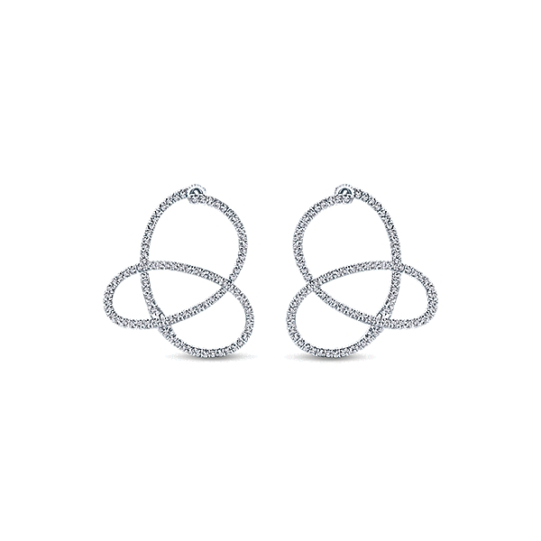 Gabriel & Co – 14k Gold Hoops Intricate Hoop Earrings