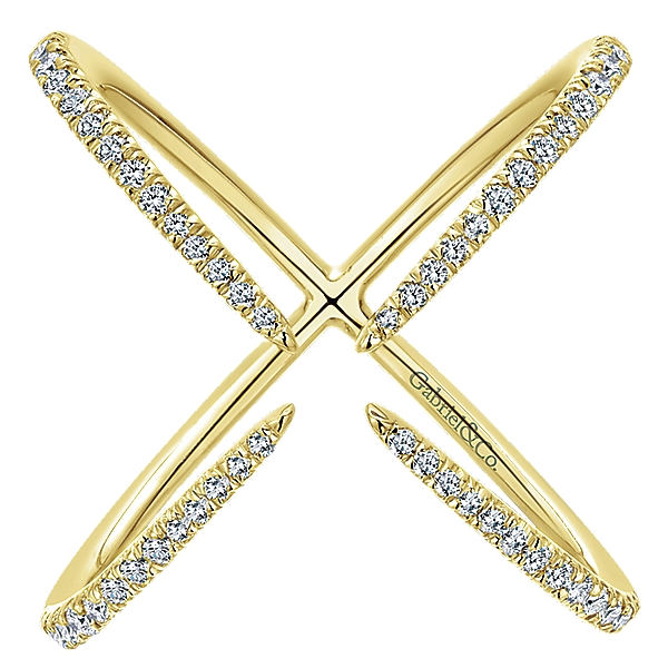 Gabriel & Co – 14k White Kaslique Fashion Ladies' Ring