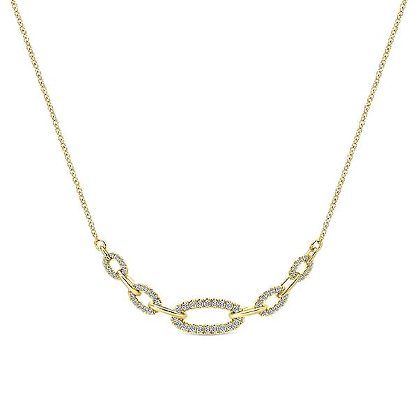 Gabriel & Co – 14k Gold Lusso Diamond Fashion Necklace