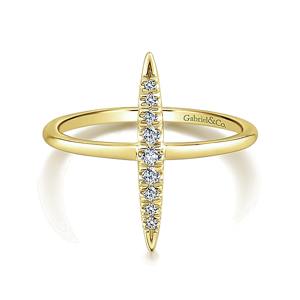 Gabriel & Co – 14k Gold Midi Ladies' Knuckle Ring Ring