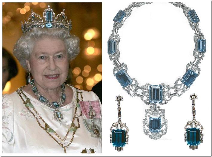 Queen Elizabeth's Aquamarine Tiarra